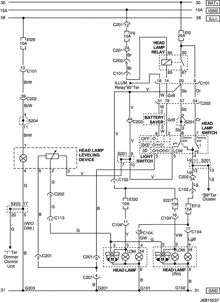 Схема автоматического корректора фар фото 365
