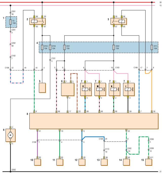 Схема электронной системы управления двигателем с блоком управления Sirius D4 (с бортовой системой диагностики)...