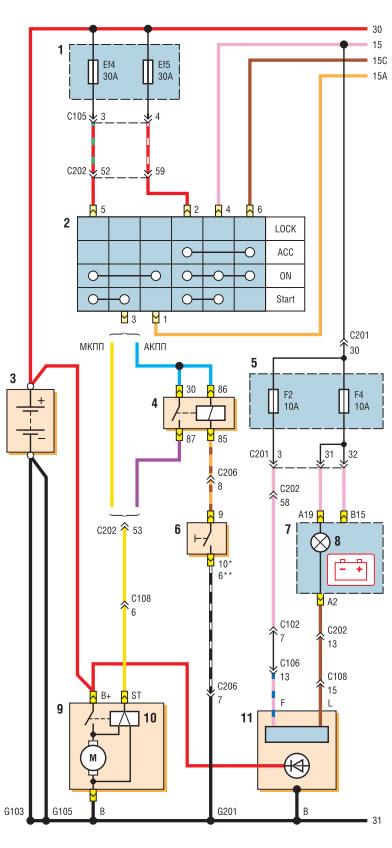 Схема проводки lacetti