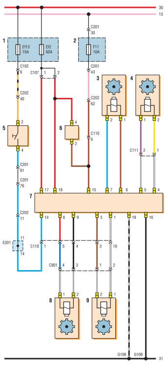 Схема стоп сигналов на шевроле лачетти